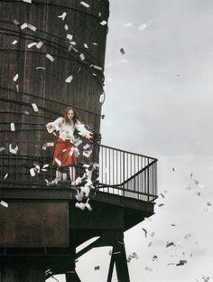 a modern flair,by stephane sednaoui for vogue italia august 2001