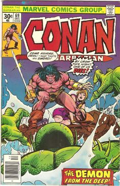 Conan The Barbarian. Vol. 1, No. 69. U.S. Marvel Comic. Dec. 1976.