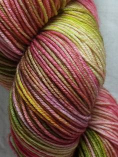 Handdyed Sock Yarn in Troublemaker by dragonflydyeworks on Etsy.