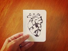 Heart Pocket Notebook Mini Notebook and Jotter Writer by SlimNote, $4.00