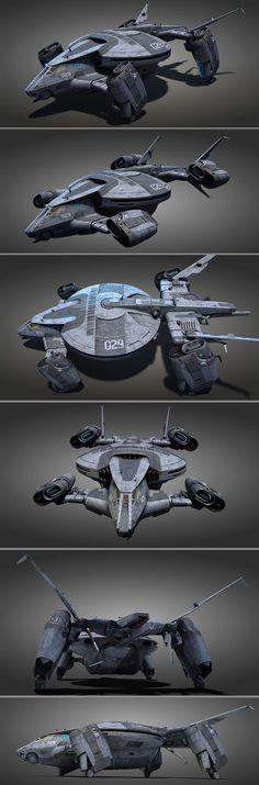 Turtle personel carrier. by NovA29R - So könnte das Shuttle der Anschuri ausgesehen haben, mit dem sie auf dem Mond gelandet sind und die zwei Lunarnauten aus einer Notlage retteten. Nur die arabischen Ziffern, vielleicht noch einiges andere, muss man sich wegdenken.