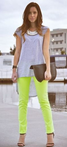 pastel and neon clash.