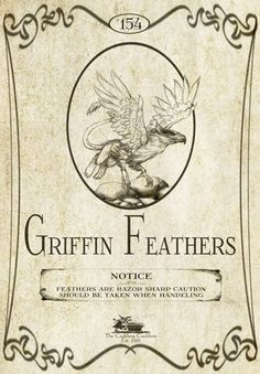 """Griffin Feathers"" #BottleLabel #Griffin #Halloween"