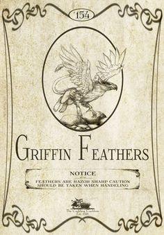 """Griffin Feathers"" #BottleLabel #Griffin #Halloween"