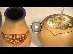 Watch this FREE video turorial on How to Create a Gourd Vase with Metal Leaf Celtic Knot