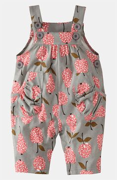 Mini Boden Baby Brand New Jersey Dungarees Grey Apples & Pears Cotton Little Girl Fashion, Fashion Kids, Baby Outfits, Kids Outfits, Little Girl Dresses, My Baby Girl, Baby Baby, Baby Girls, Baby Sewing
