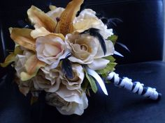 STEAMPUNK VINTAGE bouquet Love the feathers