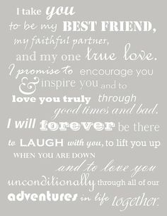 ♥ vow inspiration