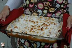 Candied Sweet Potato Casserole with Marshmallows Recipe :: PocketChangeGourmet.com