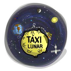 táxi lunar, desenho