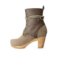 No.6 Lace-Up High Heel Boot With Shearling