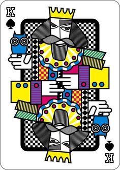 playing cards by Hani Mahfouz, via Behance