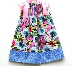 Sale New Pillowcase Dress 12mo 18mo 24mo 2T 3T 4T 5T Pink Blue Yellow Green White Pixiilane Boutique HBTM