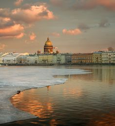 Saint Petersburg, Russia (by Alexander Alexeev) with a view of St Isaak's Cathedral on The Neva River