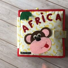 Pikabook Africa, Silent Book, Sensory Book, Felt Book, Activity Book Pikabook Africa is a really useful and original present for a baby or Toddler. Just get ready for an unforgettable adventure through Africa. Our Handmade Quiet books can help to develop Diy Quiet Books, Baby Quiet Book, Felt Quiet Books, Baby Crafts, Toddler Crafts, Felt Crafts, Crafts For Kids, Infant Activities, Book Activities