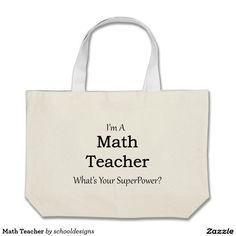 Math Teacher Large Tote Bag