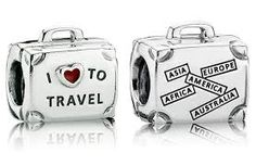 travel pandora charms - I like the one on the left. I love to travel