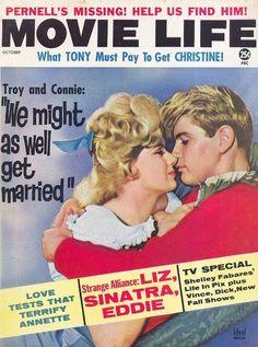 Connie Stevens, Troy Donahue, Movie Life October 1962