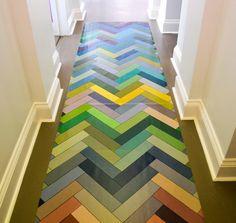 Herringbone floor cloth//the Palette