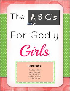 The ABC's for Godly Children Curriculum (character cards for each gender).