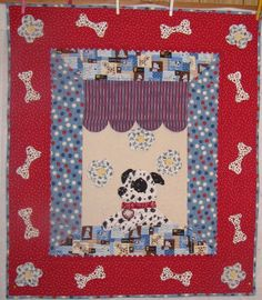 Dolan's Dawg - made from the Peace Puppy in the Window pattern by Robin Nelson