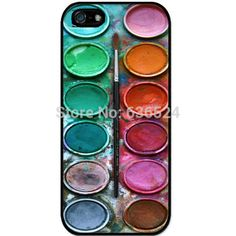 Free shipping Watercolor paint box design phone protection Hard Cover Case for iphone 4 4s 5 5s 5c 6 6s 6plus 6s plus 7 7plus