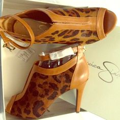 Jessica Simpson shoe bootie. Size 8.5. Real Cow Hair Fur. Brand new. Jessica Simpson Shoes Ankle Boots & Booties