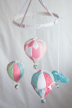 Hot Air Balloon Baby Crib Mobile - Baby Shower Gift