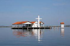 Een van de kerken in de Mesolonghi lagune in Griekenland.