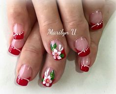 Hot Nails, Swag Nails, Nails Design With Rhinestones, Kawaii Nails, Crazy Nails, Purple Nails, Christmas Nail Art, Flower Nails, Beautiful Nail Art