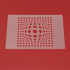 Schablone Wandschablone Kugel Optische Täuschung Effekt - ME19