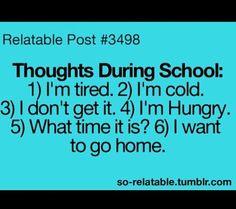 #Truth #school #bored