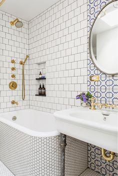 brass and white bathroom   ensemble architecture dpc
