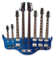 double neck guitar   Neck Guitar (No Really, I'm Serious)   CMYBacon