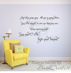 Wall Decal Safe and Sound Hunger Games by bushcreative on Etsy, $40.00