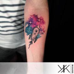 """ @koray_karagozler #perfecttattoo #perfectartist #watercolor #watercolour #watercolortattoo #space #spacetattoo #rocket #rockettattoo #spaceship #spaceshiptattoo #tattooed #tattoo #colortattoo #colourtattoo"" Photo taken by @perfecttattooartists on Instagram, pinned via the InstaPin iOS App! http://www.instapinapp.com (09/13/2015)"