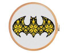 Snowflakes and arrows modern cross stitch por PatternsCrossStitch