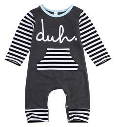 db2978a6b long sleeve romper 2016 wholesale baby kids boy girls warm infant romper  cotton striped clothes outfits-in Rompers from Mother & Kids on  Aliexpress.com ...