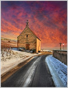 Church Street, Sigolsheim - Alsace, France