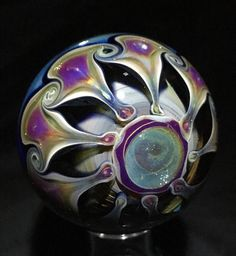 Sand and Spirit Glass / dichroic-vortex-marble