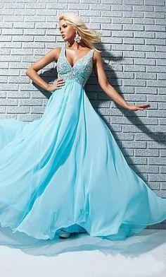 prom dress # long dress # blue dress #