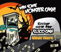 Surfers who participate in this Halloween themed offer could win $1,500. jQuery(document).ready(function($) { $.post('http://www.freebiesdip.com/wp-admin/admin-ajax.php', {action: 'wpt_view_count', id: '3416'}); });