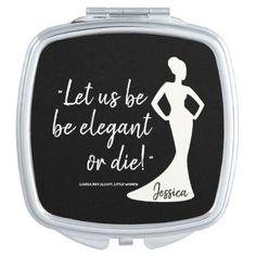 #bride - #Monogram. Louisa May Alcott Little Women Quote Vanity Mirror