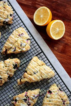 lemon blueberry scones! Mmmmm