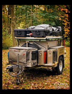 Campa USA All Terrain Trailers Camping Trailer att Trailer Casa, Bug Out Trailer, Off Road Trailer, Trailer Build, Trailer Diy, Off Road Camping, Camping Car, Outdoor Camping, Outdoor Stores