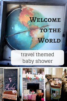 Welcome to the World Travel Themed Baby Shower on Splendry