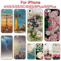 Amazing landscape Soft TPU Phone Case For Apple iPhone 4 4s 5 5S SE 5C 6 6s 6Plus 6sPlus Mobile Phone Bags Back Skin Cases Cover [Affiliate]
