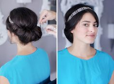Banded Chignon | 28 DIY Hairstyles