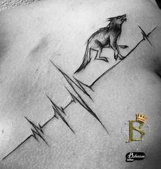 The Best Lifeline Tattoos - Tattoo Insider Art Drawings Sketches Simple, Pencil Art Drawings, Tattoo Sketches, Sad Pictures, Pictures To Draw, Lifeline Tattoos, Chinese Writing Tattoos, Tattoo Wolf, Wolf Design