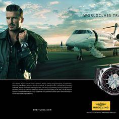 La Cote des Montres : Photo - David Beckham voyage en Breitling